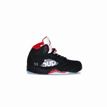 uk availability 69c93 05cc4 Authentic 824371-001 Air Jordan 5 Retro Supreme Black Fire Red (Men Women)
