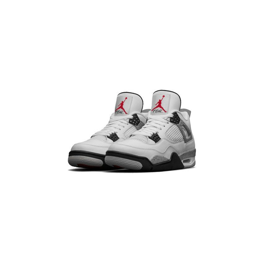 the best attitude ad5af e8127 Authentic Air Jordan 4 Retro 836015-192 White Fire Red-Tech Grey-Black