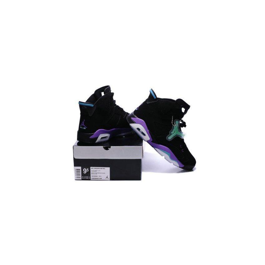 eba2c1978de0 Air Jordan 6 Retro Mens Noctilucent tags Shoes Black Purple
