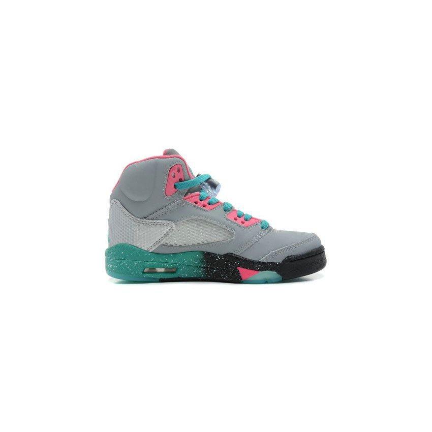 fdf6f237babfb2 136027-036 Air Jordan 5 Miami Vice Custom Women