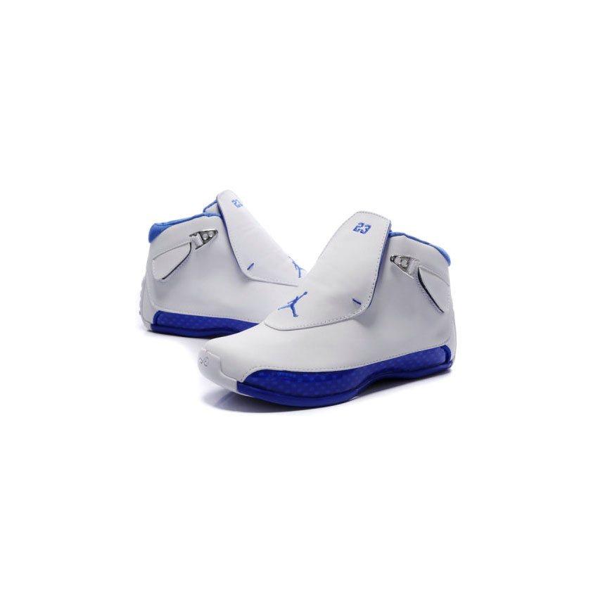 e7d590303dc 305869-107 Air Jordan 18 Original OG White Women Sport Royal A24003 ...