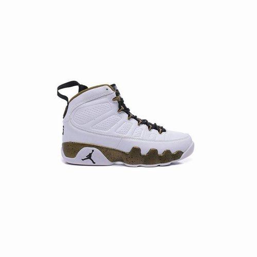 50f35949abc Authentic 302370-109 Air Jordan 9 Retro White/Black-Militia Green, Jordan  Retro 9, Air Jordan 9 Golf Shoes